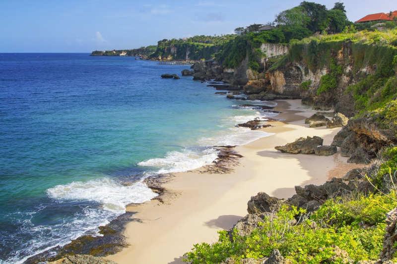 Playa de la bahía de Jimbaran - playas en bali
