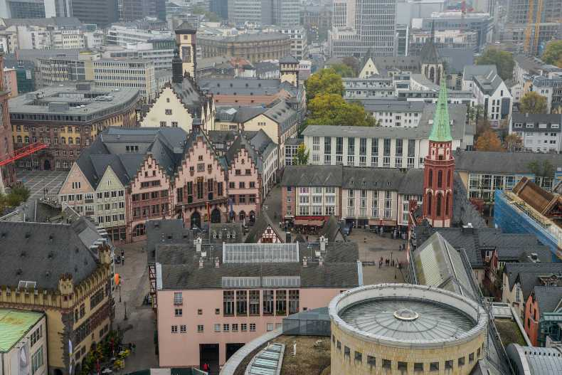Vista aerea de Römerberg en Frankfurt