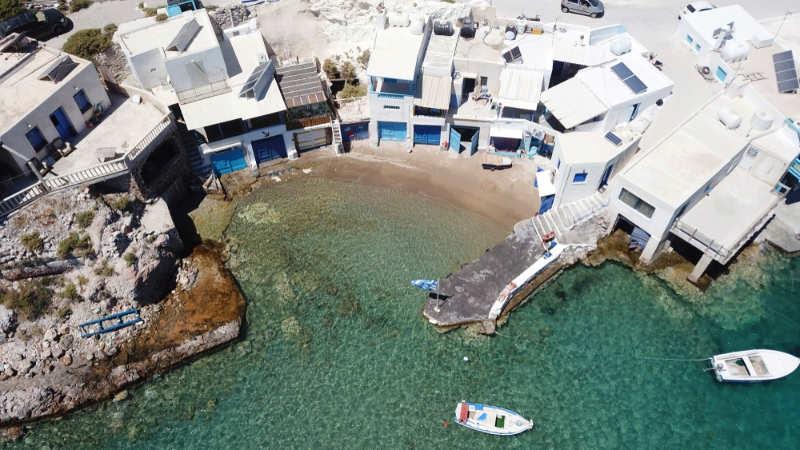 Playa Firopotamos - que ver en milos