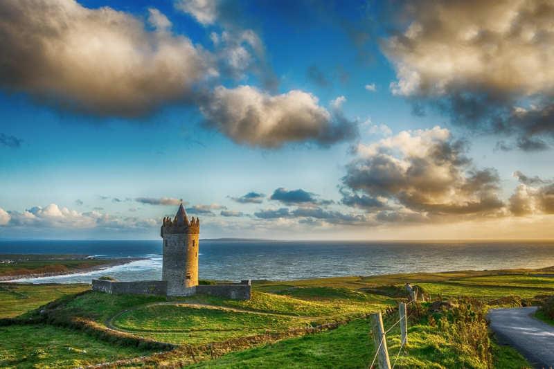 Castillo de Doonagore - castillos en irlanda