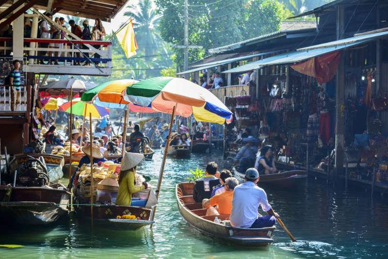 Damnoen-Saduak-mercado-flotante