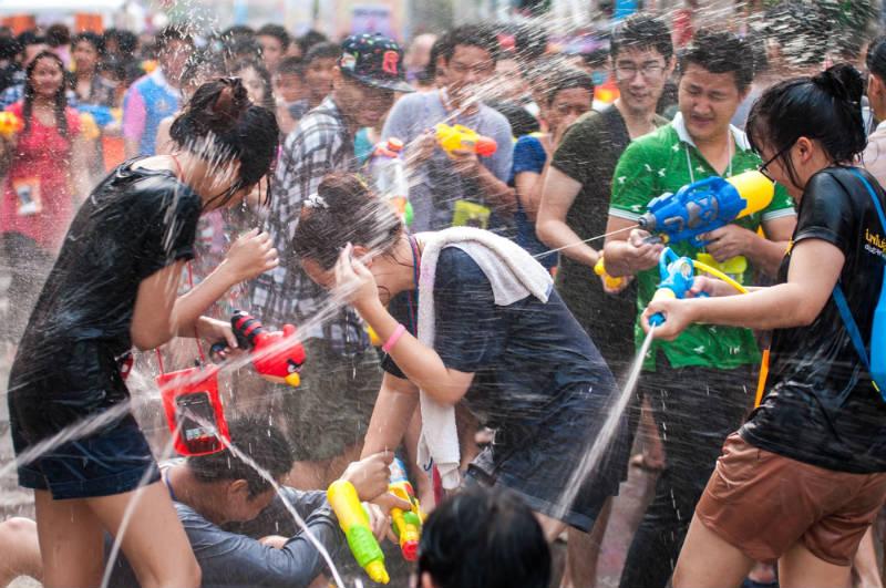 Songkran Guerra de Agua