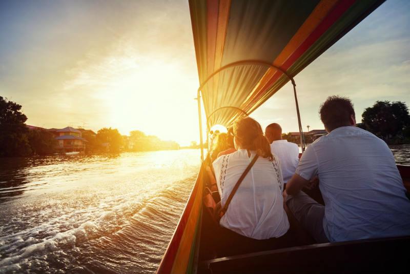 Paseo en barco por Ayutthaya